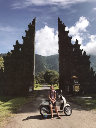 Bringing the motorbikes to the Bali Gate