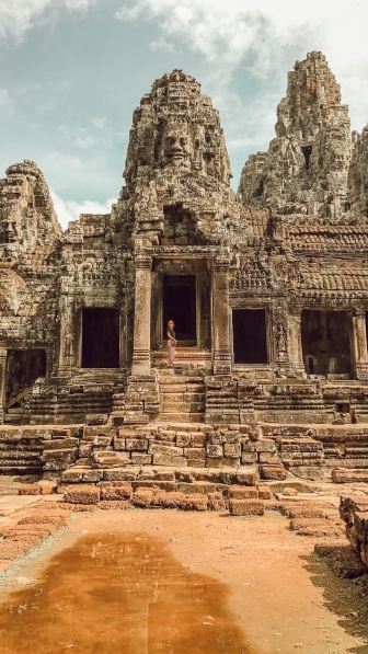 Angkor Wat ruins in Cambodia